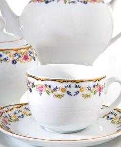 سرویس چای خوری چینی مدل گلستان از محصولات چینی زرین