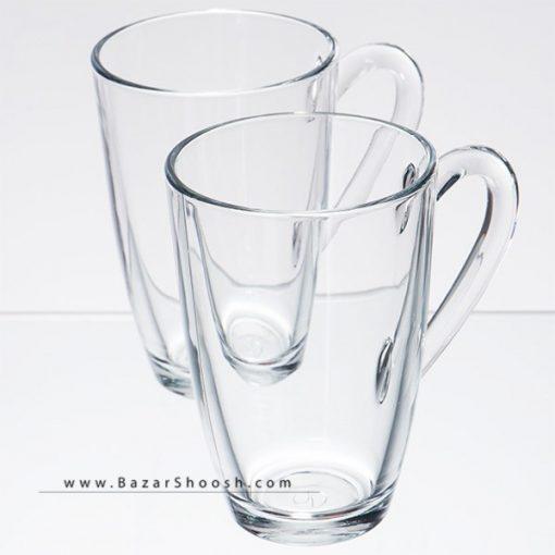 Pasabahce Aqua 95960 Mug and Saucer Pack Of 2