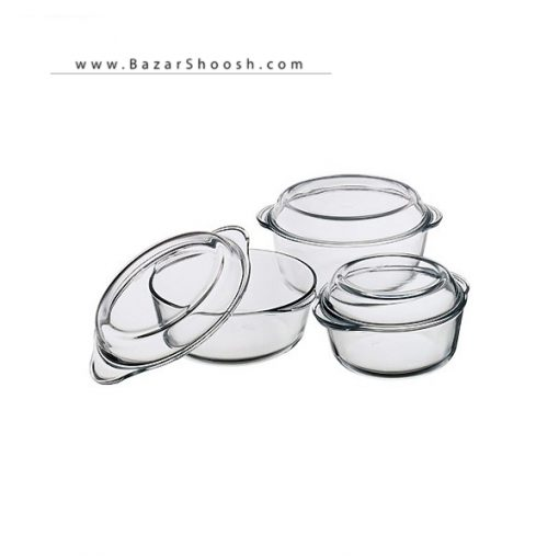 Pasabahce 3 Pieces Round Food Cooking 159021