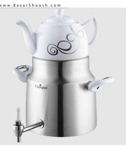 7519-Unique-Enamel-kettle-And-Porcelain-Pot-Set