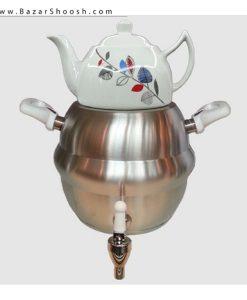 7521-Unique-Enamel-kettle-And-Porcelain-Pot-Set