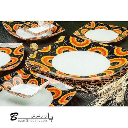 Arcofam سرویس غذا خوری 6 نفره 25 پارچه طرح آرشیدا