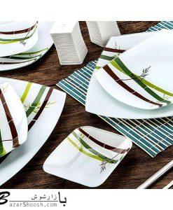 Arcofam سرویس غذا خوری 6 نفره 25 پارچه بامبو