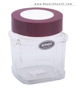 Limon جای حبوبات شیشهای 10 سانتی متری مدل نگین