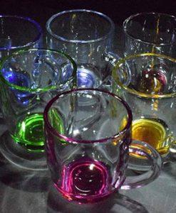 لیوان و نیم لیوان بلور رنگی