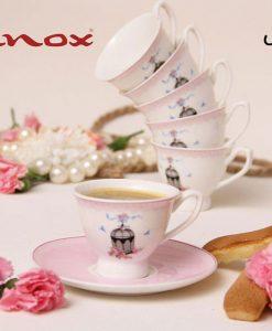 ست قهوه خوری بن چاینا برند سافینوکس در سه طرح مختلف