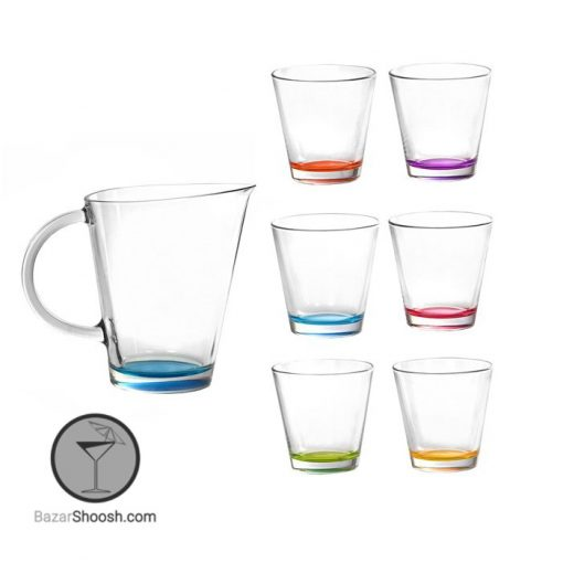 پارچ و لیوان 6 رنگ سیتی ورکشاپ