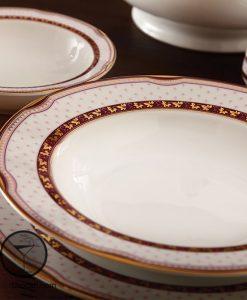 سرویس چینی زرین پرشیا رنگ قرمز سری ایتالیا اف