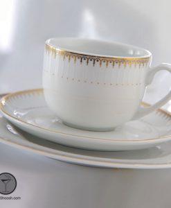 سرویس چای خوری سپیدار چینی زرین سری ایتالیا اف