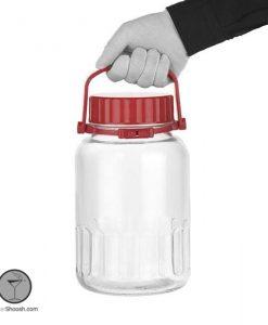 ظرف ترشی شیشه ای پاشاباغچه با گنجایش 4 لیتری