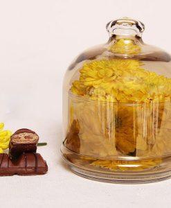 عسل و مربا خوری بلور رنگی