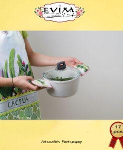 سرویس حوله آشپزخانه اویم گل کاکتوس