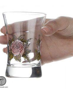 نیم لیوان آزور گلدار ورکشاپ
