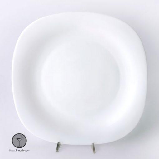 سرویس غذاخوری 28 پارچه سفید قالب مربع پارس اپال