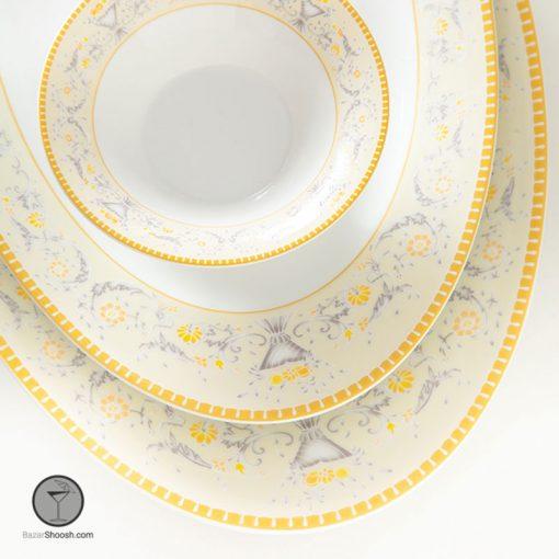 سرویس غذاخوری مدل جنوا چینی زرین 35 پارچه