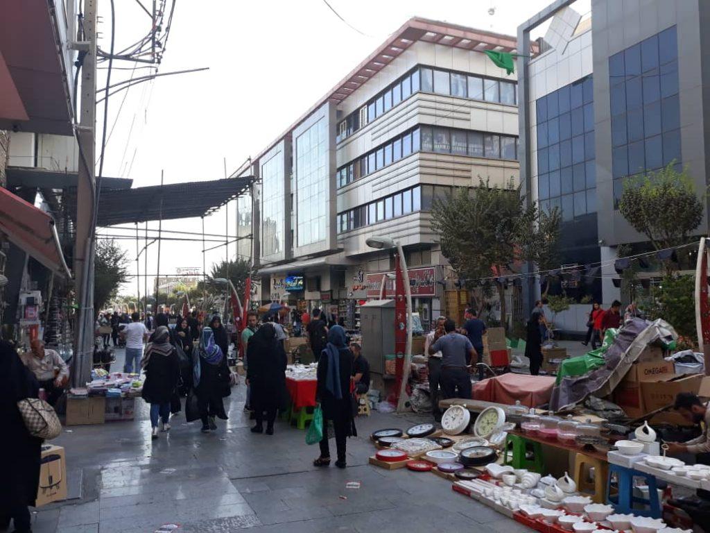 خیابان صابونیان در بازار بلور فروشان