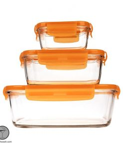 ست نگهدارنده مواد غذایی یا ظروف فریزری لومینارک 3 تایی مستطیل