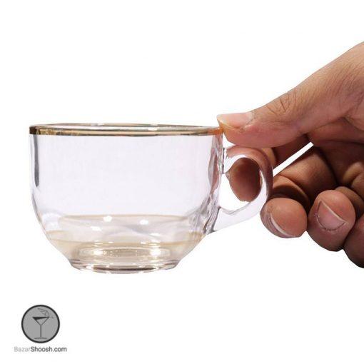 فنجان برنزی لب طلایی جانبو بلینک مکس