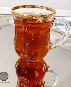 فنجان و نعلبکی دیم لب طلا پاشاباغچه