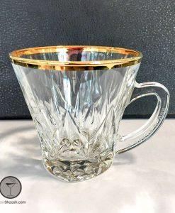 فنجان مدل 4200 لب طلا آدریا گلس
