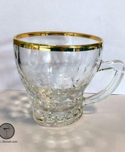 فنجان مدل 4240 لب طلا آدریا گلس