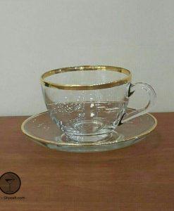 فنجان و نعلبکی بیسیک لب طلا