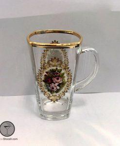 ماگ استرلینگ لب طلایی گل رز