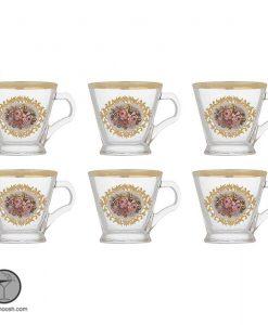 فنجان لب طلایی گل رز بلینک مکس