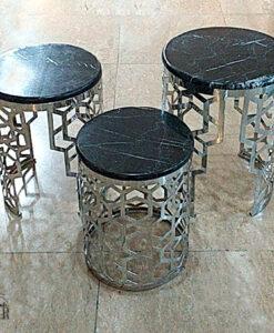 میز جلو مبلی سنگ و فلز