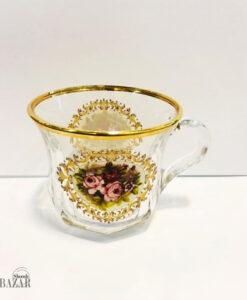 فنجان لب طلا گل رز بلینک مکس