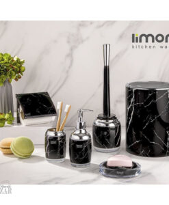 ست سرویس بهداشتی 6 تکه مدل رومانتیک ماربل لیمون
