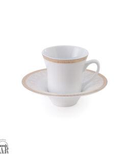 فنجان و نعلبکی رومینا طلایی زرین
