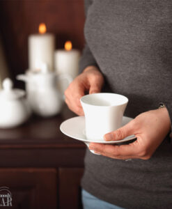فنجان و نعلبکی سفید شهرزاد